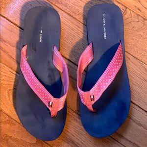 Tommy Hilfiger Pink & White Polka Dot Flip Flop